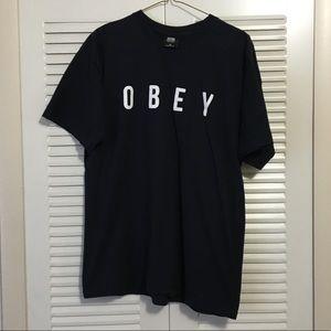 OBEY Black T-shirt Size Medium